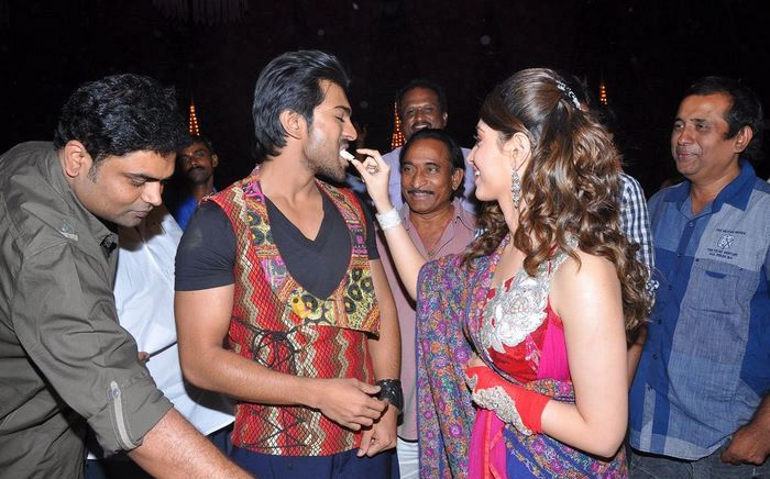 Ram Charan Tej birthday celebrations 2012