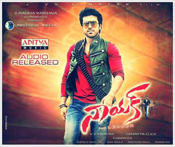 Nayak Audio Released poster