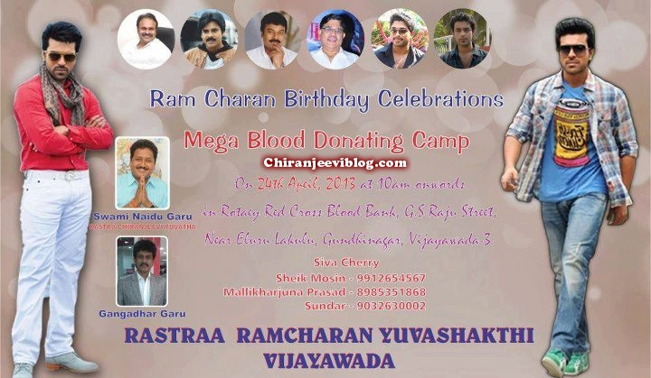 Ram Charan birthday celebrations and socila activities01