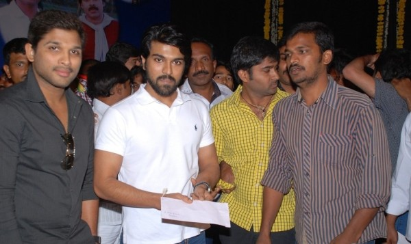 Ram Charan and Allu Arjun Photos at Venkatesh Yadav Santhapa Sabha